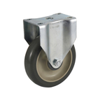 Wholesale China produces industrial casters Medium Duty Industrial PU Rigid/Swivel Castor Caster Wheels