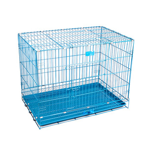 Foldable Metal Dog Cages Pet Cages Carriers for Small Large Dog