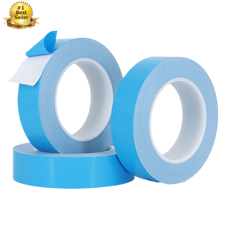 fiber glass release double sided 3m insulation led waterproof cloth adhesive pe roll heat transfer blue conductive thermal tape
