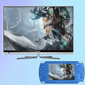 Direct selling new design Touch Screen 4.3 inch 8GB X8 psp handheld console games portable multimedia player for kids