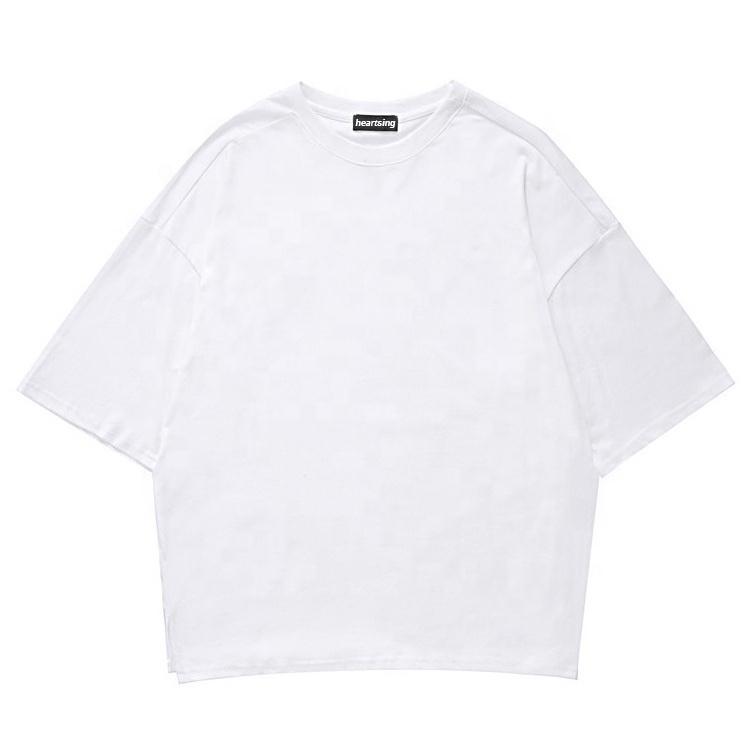 custom cotton plain print blank tshirt oversized mens t shirt
