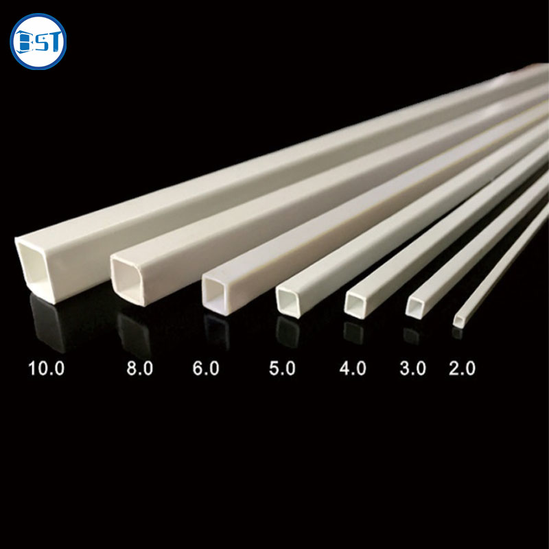 ABS square hollow pipe for building sand table handmade DIY plastic square tube