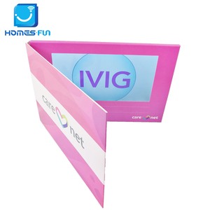 Hot avi sex mp4 hd 7 inch video brochure cheap china graphic card wedding invitation printing