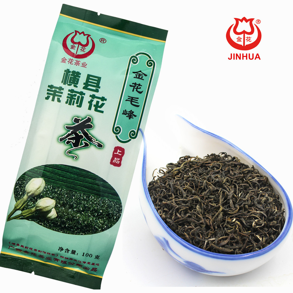 JINHUA Chinese jasmine green tea maofeng 100g bagged - 4uTea | 4uTea.com