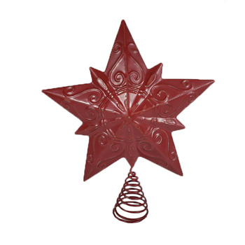 High Quality Wholesale Ceramic Vintage Star Christmas Tree Topper Decoration