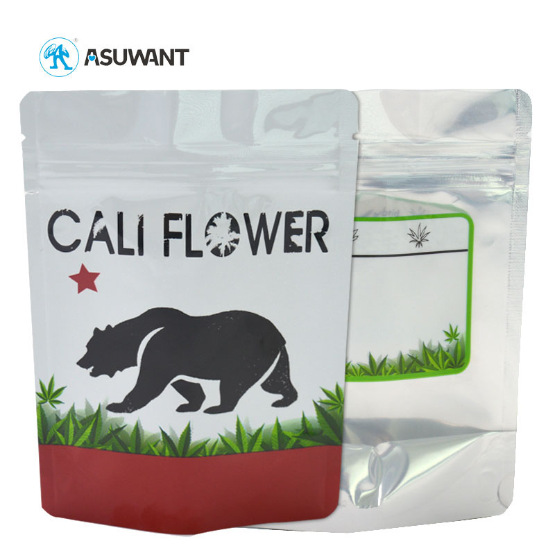 Astm D3475 Low Price Custom Printed Zipper Pouch AYW Zipper Top Child Proof Resistant Exit Packaging Mylar Bag