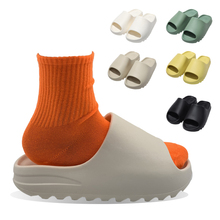 Drop Shipping <span class=keywords><strong>Yeezy</strong></span> Yzy UnisexสีทึบBreathable Plusขนาด35-46 Anti Slip <span class=keywords><strong>Yeezy</strong></span>สไลด์รองเท้าแตะผู้หญิงและMan
