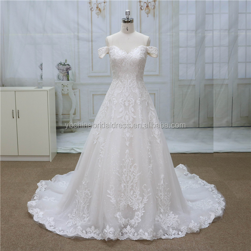 Off Shoulder Sleeves With Sweetheart Neckline New French Lace Fashion Bridal Wedding Gown Dress China Buy Fashion Bridal Wedding Gown Dress Lace Sleeves To Add To Wedding Dress Bell Sleeve Lace Wedding Dress,Golden Wedding Anniversary Dresses