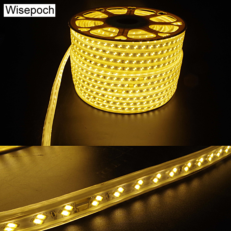 Retail LED strip lights 50m 100m 220V 5730 high bright SMD for Halloween Christmas Decoration