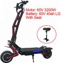 3200 Вт 60 в электрический скутер 2 Электрический мотор скейтборд 95KMH Лонгборд для взрослых E скутер складной Patinete Eletrico междугородние(Китай)