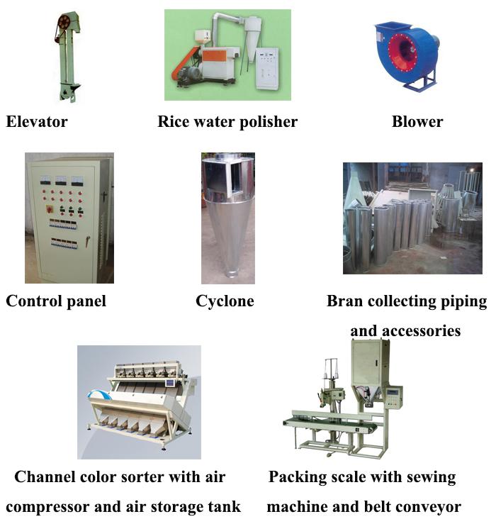 Industrial de molienda de arroz y descascarillado máquina/máquina de arroz miller y pelador de la planta