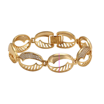 76383 xuping jewelry fashion gold bracelets 24k gold color round shaped simple bracelets