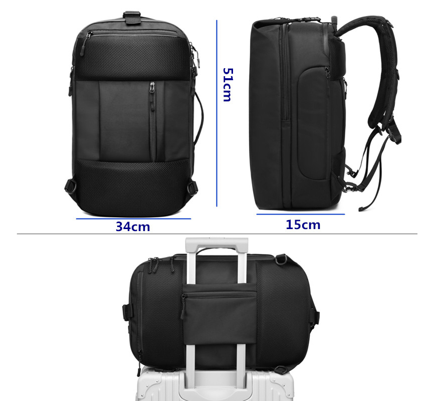 mochilas Multifunction USB Charging Men Backpack Large Capacity Waterproof Travel Bag Male 15.6inch Laptop Backpack Fashion mochila