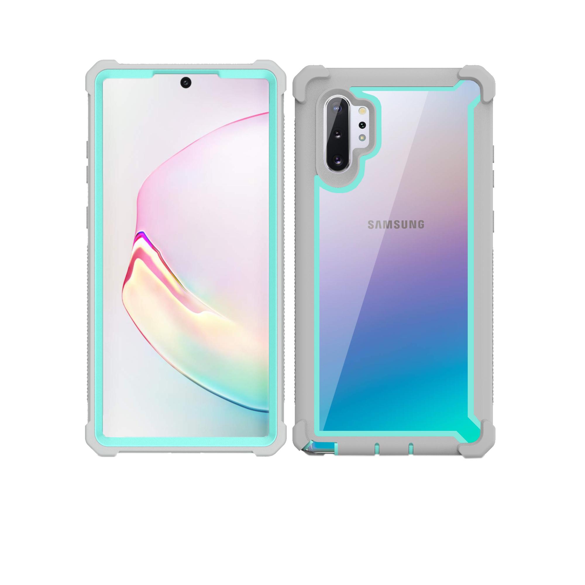 Для samsung Galaxy Note 10 9 чехол S10 S9 S8 Plus Новый цветной 360 Защитный противоударный чехол с бесплатной защитной крышкой для экрана(Китай)