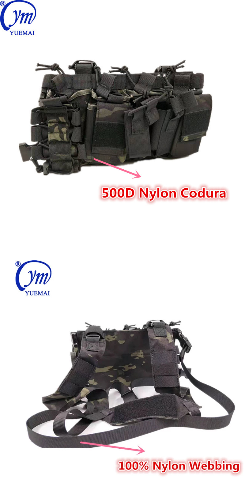 Manufacturer Outdoor Hunting Combat Police Army Tactical Military Pack Utility Chest Rig Vest Waist Bags with Magazine Pouch