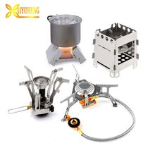 Hot New Products Hiking Ultralight Portable Mini Outdoor Camping stove fold Backpacking Gas Stove