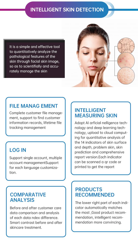 Magic mirror skin analyzer machine skin scanner for sale
