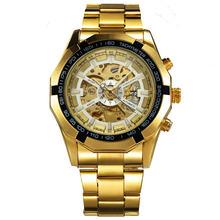 WINNER официальные винтажные мужские часы, лучший бренд, Роскошные автоматические механические часы, мужские наручные часы с медным стальным ...(Китай)