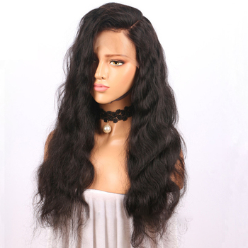 fashion High Quality long Wavy Synthetic fiber Lace Front Wig For for black woman