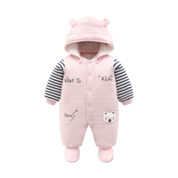 Fashion baby unisex long sleeves thick onesie romper infant winter warm jumpsuit newborn baby clothes