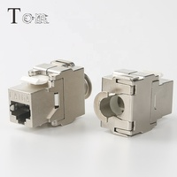 TOM-KJ-21 STP 180 degree Cat6/CAT6A TOOLLESS KEYSTONE JACK, Zinc alloy STP Network accessory connector