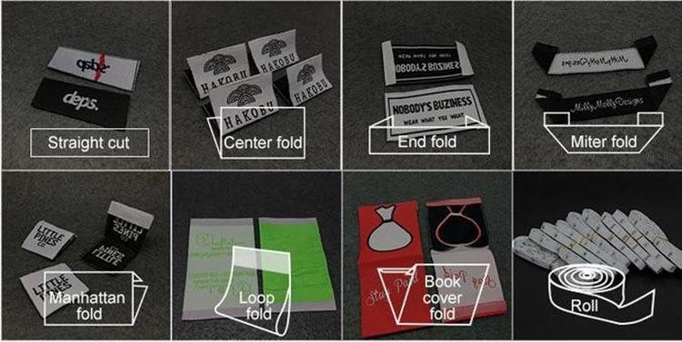 Karışık otomat dokuma etiket ve etiket t-shirt çocuk giysileri bebek giyim kalite güvencesi ile