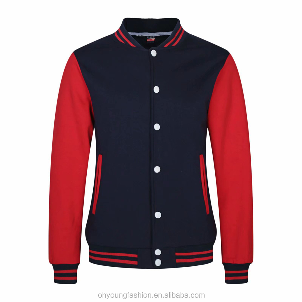 Custom High quality  Adults Baseball Uniform clothes Long sleeve Button-up varsity bomber Jacket for Aut/Win