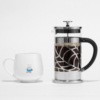 Hot Selling Top Quality Metal French Press Keeps Brewed Coffee Or Tea pot