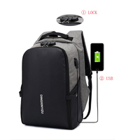luxury Business travel Nylon water proof notebook backpack laptop bags mens smart anti thief backpack with USB Charging Port