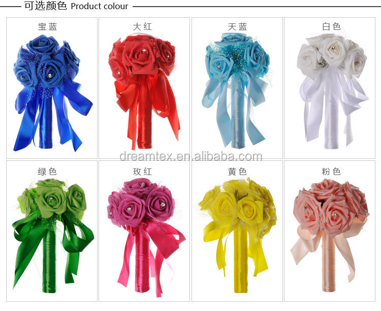 The latest hand flower artificial flowers   Occidental imitative flower creative wedding accessories  bridal bouquet