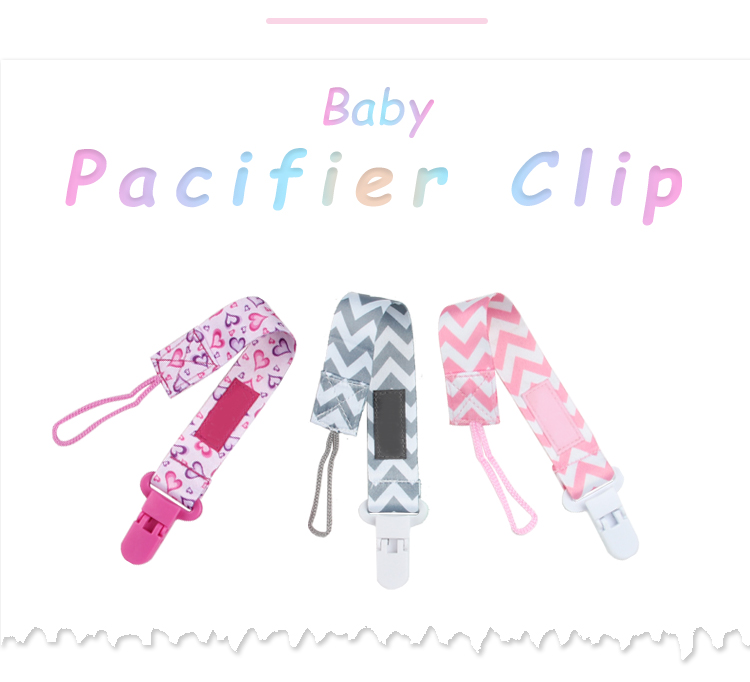 2019 Funny baby pacifier clip  Fancy flower satin ribbon polyester baby girl pacifier clips