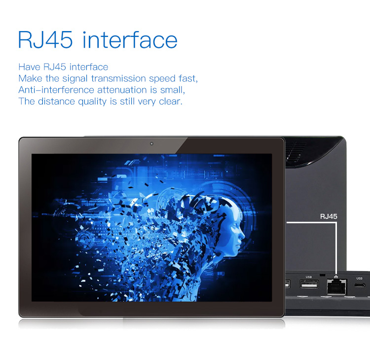tablets18 inches android wifi kiosk for restaurants rj45