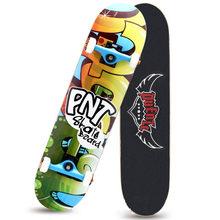 Четырехколесный двухслойный скейтборд Профессиональная щетка хип-хоп доска длинная доска для взрослых мальчиков и девочек для начинающих ...(Китай)