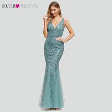 Бордовое вечернее платье Ever Pretty EP07886, с треугольным вырезом, с блестками, Формальные платья для женщин, элегантные платья для вечеринки Lange ...(China)
