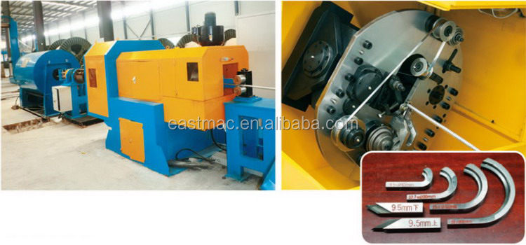 high speed continuous cable interlock armoring machine for Submersible oil pump cable and Al alloy cable