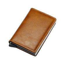 DIENQI Rfid держатель для карт, мужские кошельки, кошелек, Мужской винтажный черный короткий кошелек 2020, маленькие кожаные тонкие кошельки, тонки...(Китай)