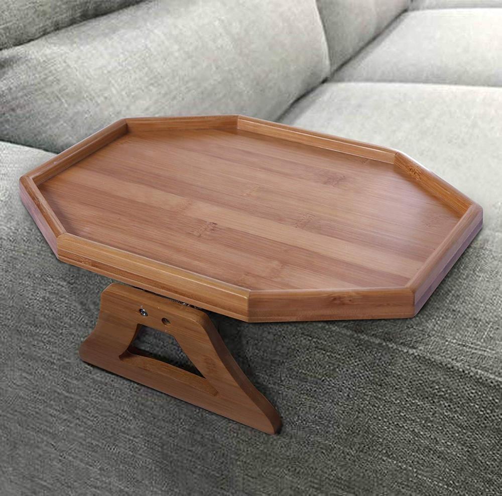 Bamboo Sofa Arm Tray Table Armrest