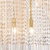 Contemporary fixtures luxury gold round modern designer home kitchen pendant light LED chandelier