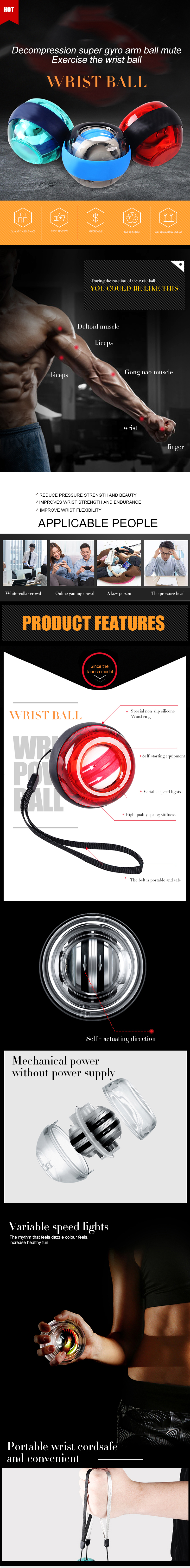 Handgelenk Trainer Power Gyro Exerciser gyroskop air power ball