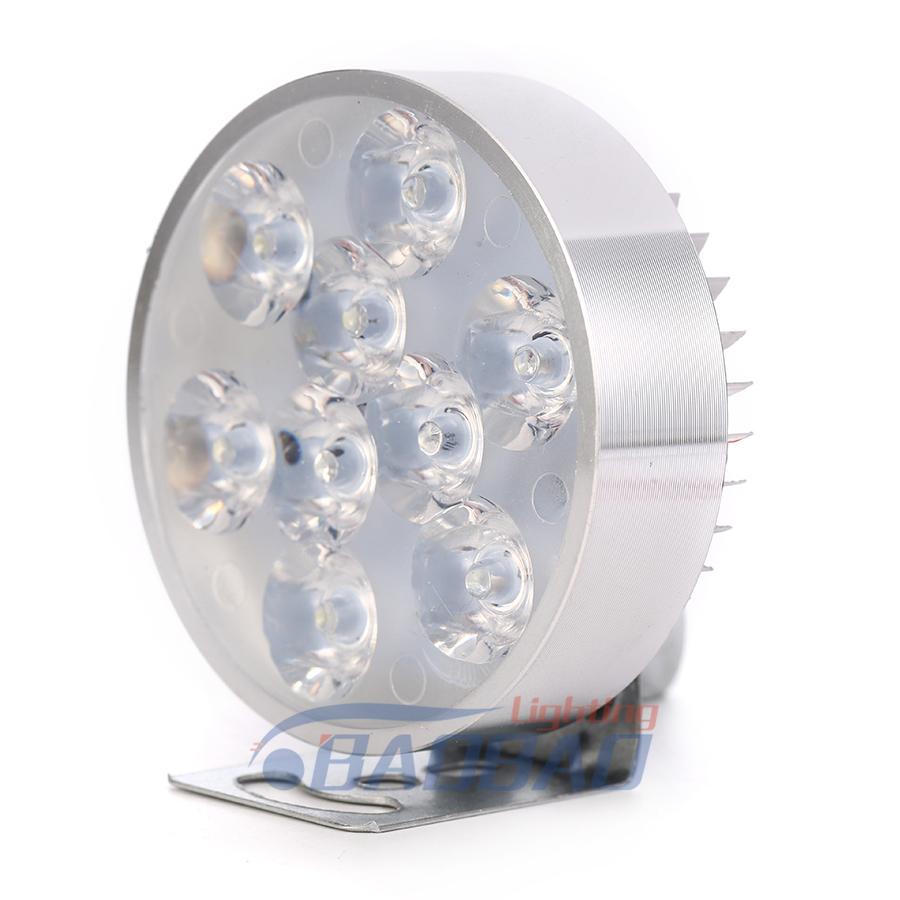 Motorcycle Headlight White DRL Led Headlight, Round black Head Lamp for V-espa LX
