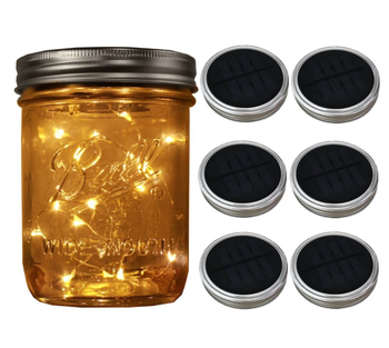 Warm White Solar Mason Jars Lids With