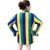 Mardi Gras striped Cardigan mommy and me family matching outfits casual petal long sleeve blouse
