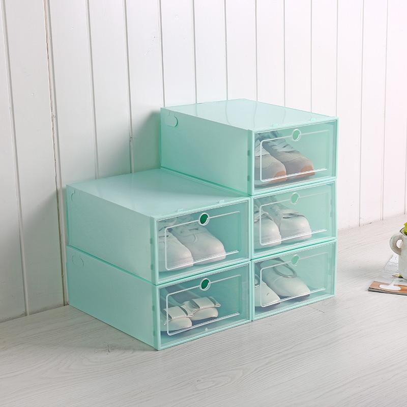Hot Sale Durable Plastic Shoes Storage Box Stackable AJ Shoes Storage Box Shoes Packing Box