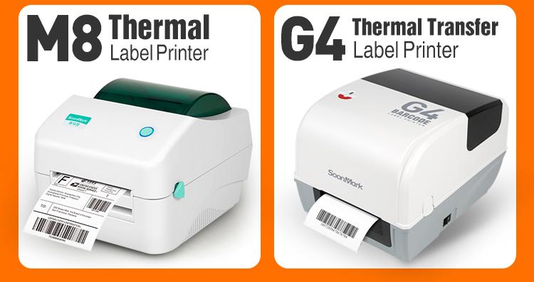 SMK-M4 108 Mm Portable Thermal Label Barcode Printer Stiker untuk Pengiriman Logistik
