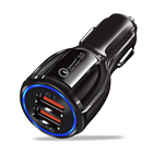 SIPU hot sale qc 3.0 qc 3.1 fast charging car charger adapter cigarette lighter dual usb car charger for mobile phone