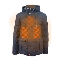 High quality custom made warm long sleeve men down jacke with duck down inside for winter
