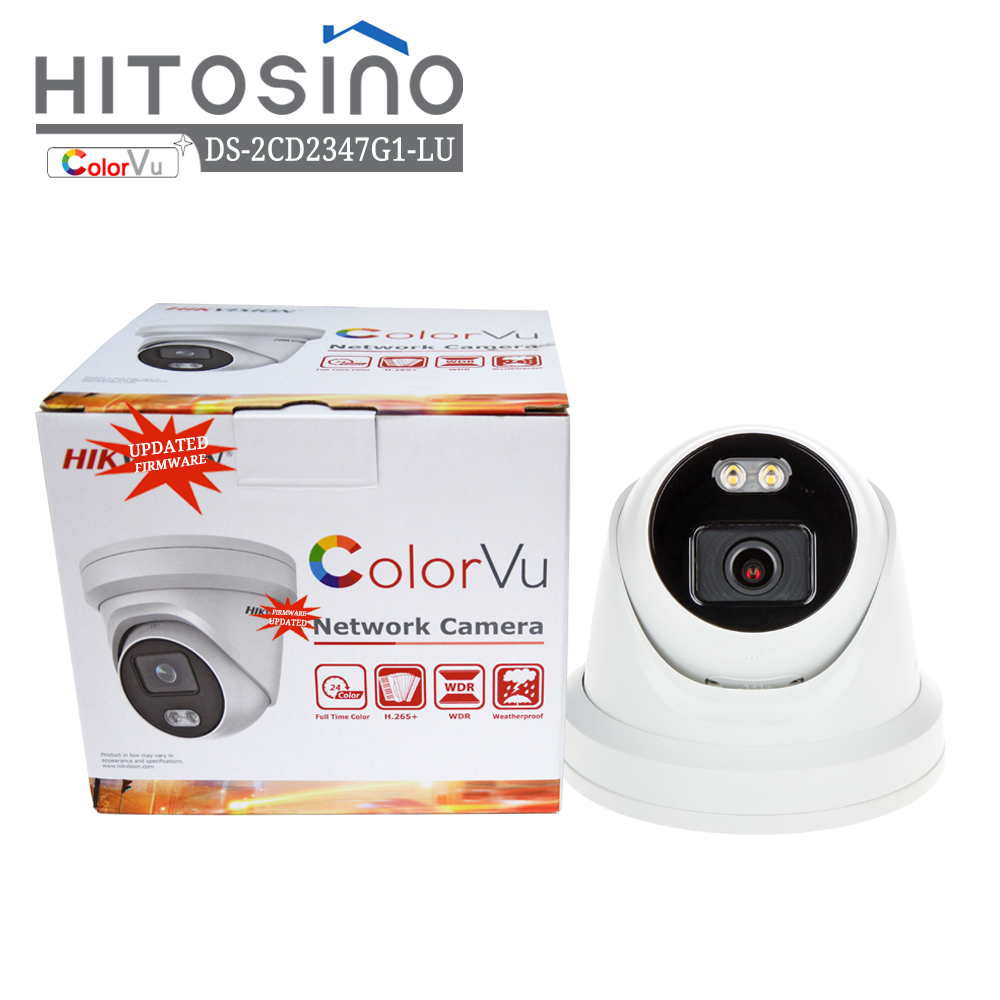 Hik vision OEM Home Surveillance Outdoor IP66 4MP PoE Security Kleur Nachtzicht Colorvu DS-2CD2347G1-LU IP Video CCTV Camera