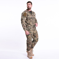 Armpit mesh breathable camouflage mens quick dry military tactical shirt