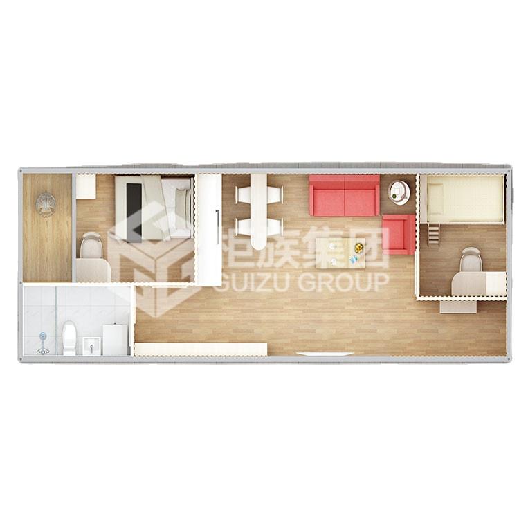 गर्म बिक्री पेशेवर 2 बेडरूम अपार्टमेंट इमारत prefab कंटेनर घरों 20ft 40ft कंटेनर-घरों