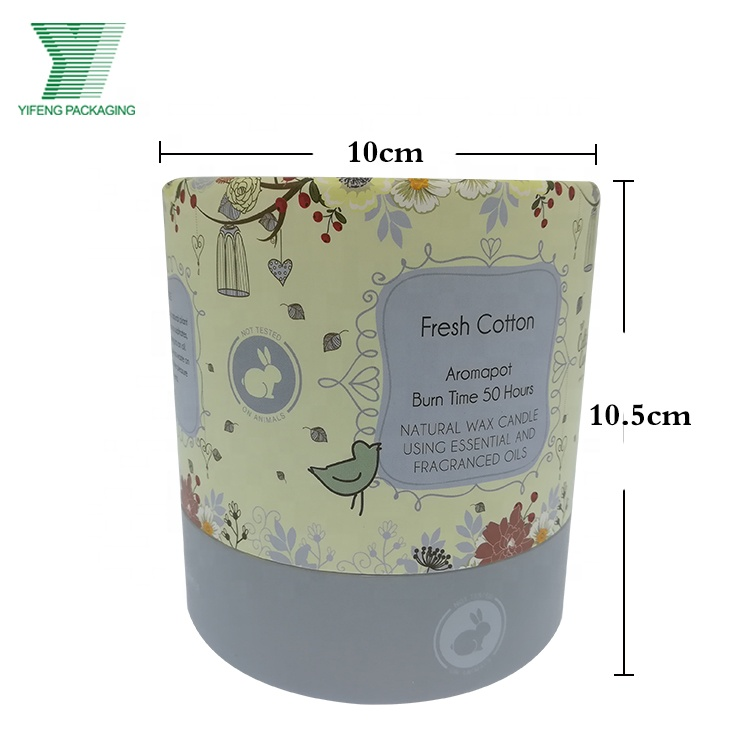Biodegradable Full Color Printing Essential Oil Round Tube for Cosmetic Lip balm Lipstick Candle Packaging Paper Tube